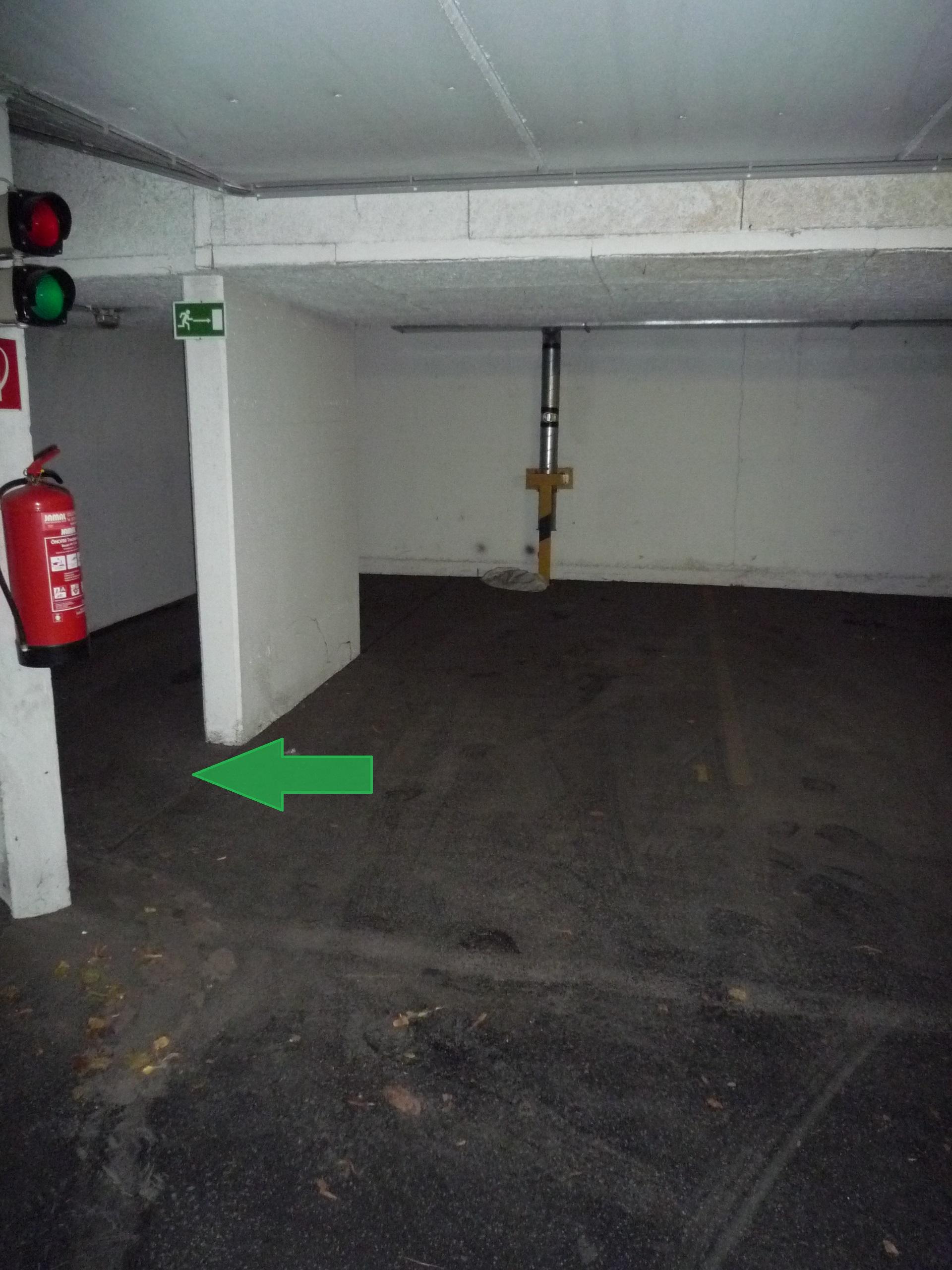 Motorradabstellplatz